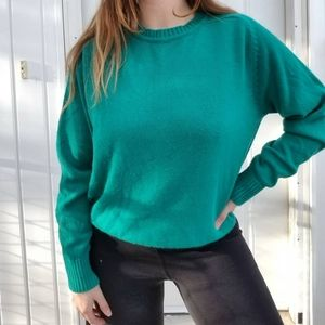 3/$33 TOWNHOUSE vintage 70s/80s teal knit sweater